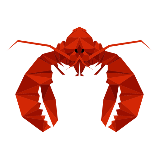 Lobster front view lowpoly Transparent PNG