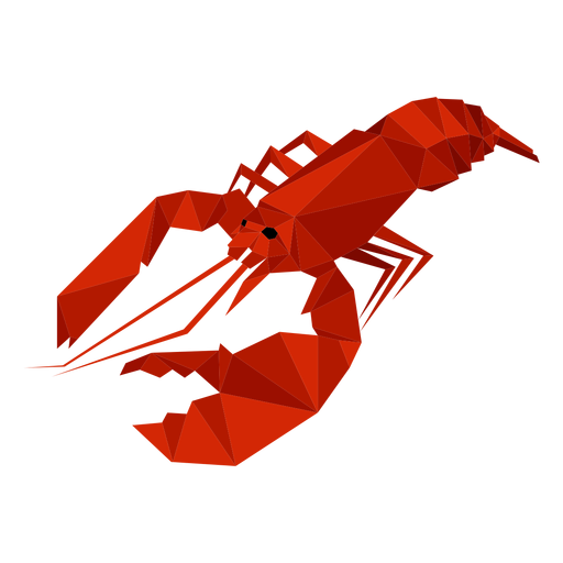 Lobster low poly Transparent PNG