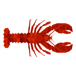 Lobster top view lowpoly