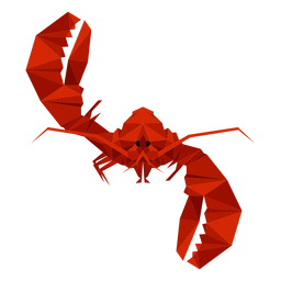 Lobster waving lowpoly