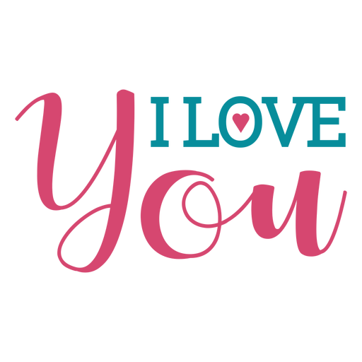 Love you lettering Transparent PNG