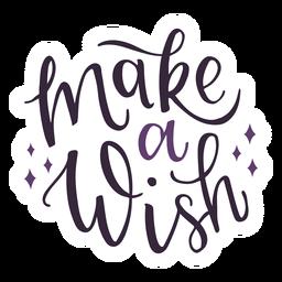 Machen Sie eine Wunschbeschriftung