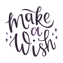 Make a wish lettering