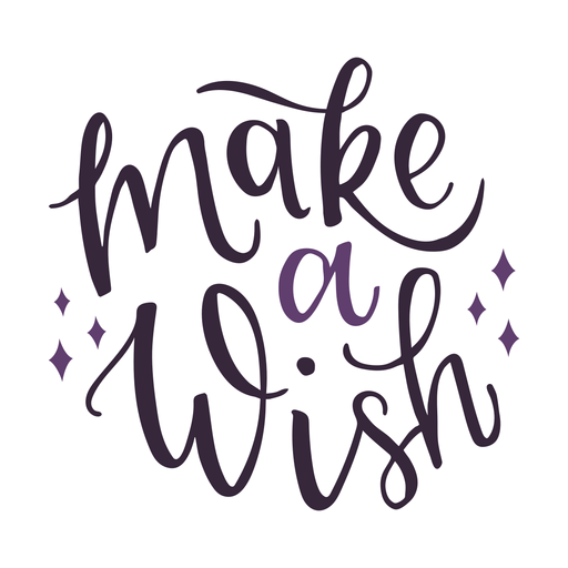 Make a wish lettering Transparent PNG