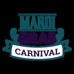 Mardi gras carnival lettering