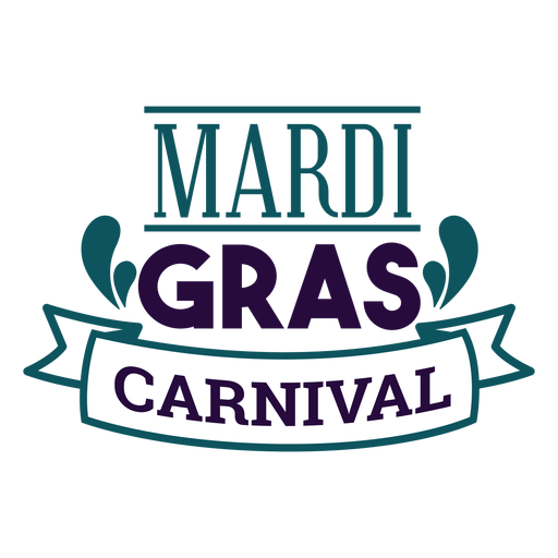 Mardi gras carnival lettering Transparent PNG