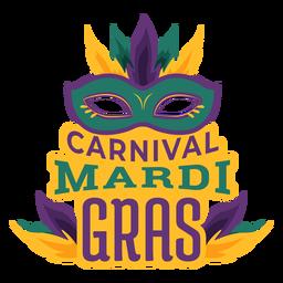 Mardi Gras Colombina Maskenbeschriftung