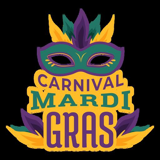 Mardi gras colombina máscara letras Transparent PNG
