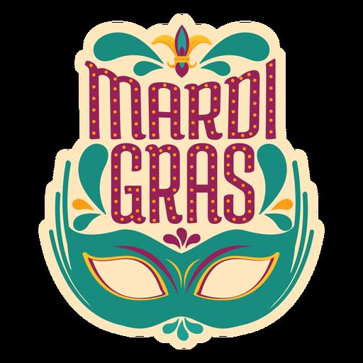 Etiqueta de máscara de colombina de Mardi Gras Transparent PNG