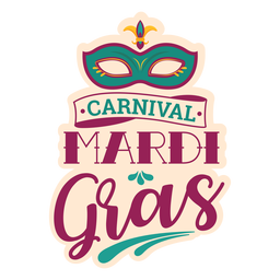Karneval-Dominomaske-Schriftzug