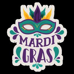 Etiqueta engomada de la máscara del dominó del carnaval
