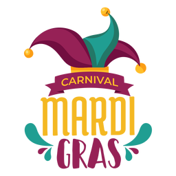 Letras de chapéu de jester Mardi Gras