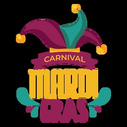 Mardi gras jester hat lettering