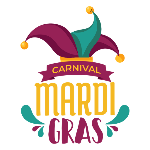 Letras de chapéu de jester Mardi Gras Transparent PNG
