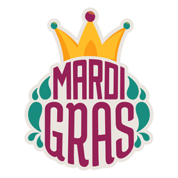 Mardi gras jester hat sticker