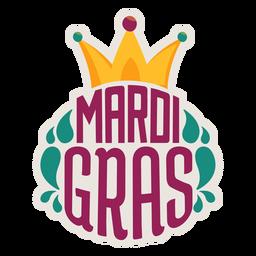 Mardi gras jester hat sticker