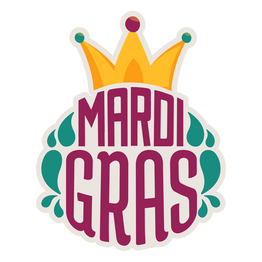 Mardi gras jester hat sticker Transparent PNG