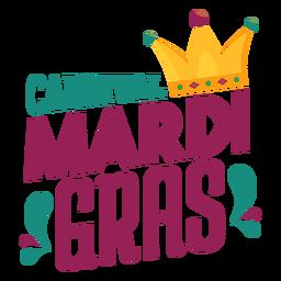 Mardi gras joker sombrero letras