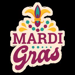 Mardi gras lettering sticker
