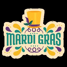 Mardi gras magician hat lettering