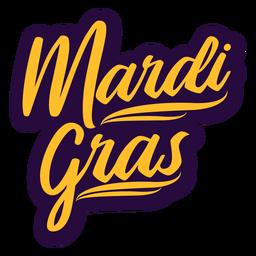 Mardi gras retro lettering