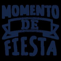 Momento de fiesta lettering