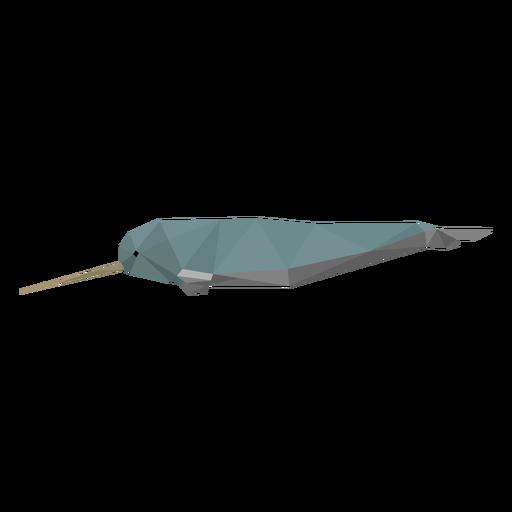 Vista lateral de Narval lowpoly Transparent PNG