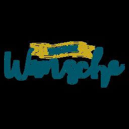 Letras de Oster Wunsche
