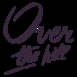 Sobre as letras da colina
