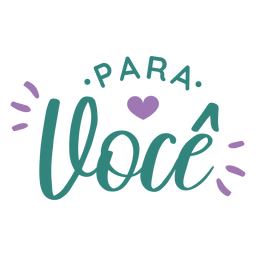 Para voce lettering