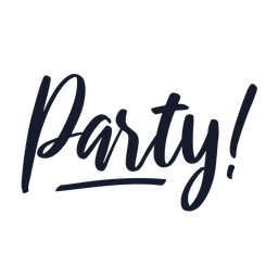 Party lettering