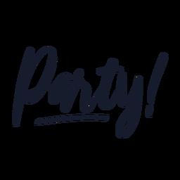 Party Schriftzug