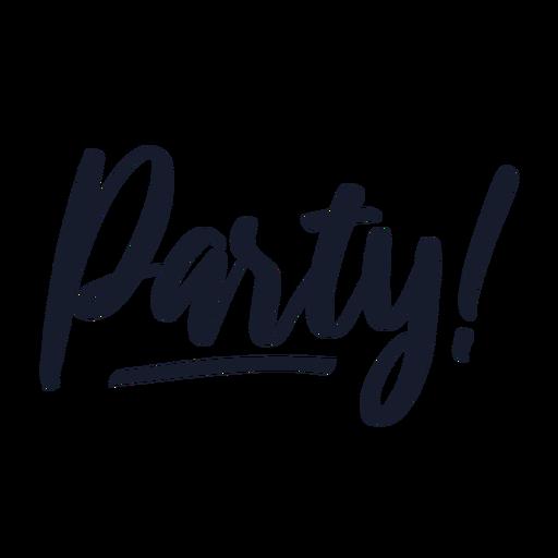 Letras de fiesta Transparent PNG