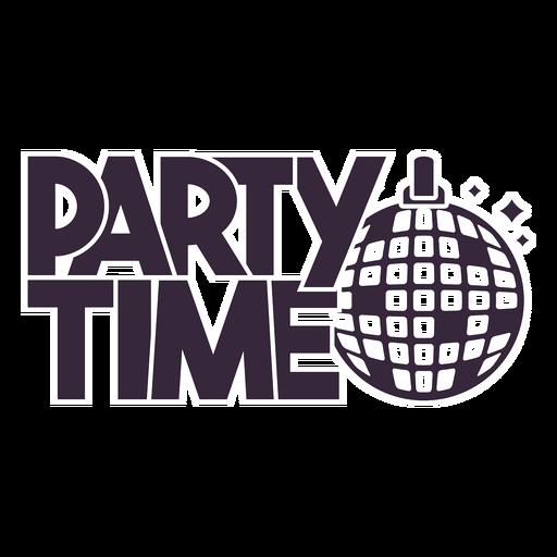 Tiempo de fiesta letras de bola de discoteca Transparent PNG