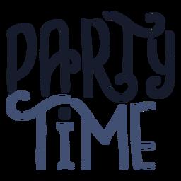 Rotulação de tempo de festa