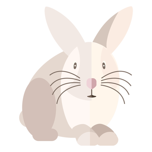 Rabbit front view flat Transparent PNG