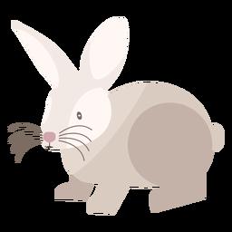 Vista lateral de coelho plana