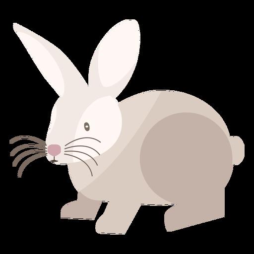 Rabbit side view flat Transparent PNG