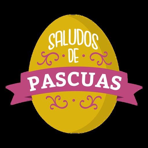 Saludos de pascuas lettering Transparent PNG