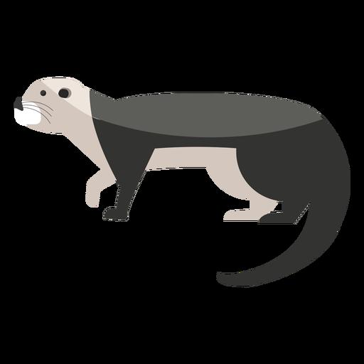Sea otter walking flat Transparent PNG