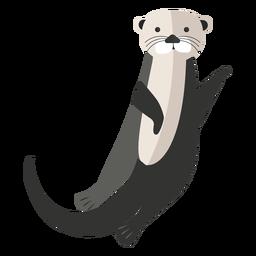 Sea otter waving flat