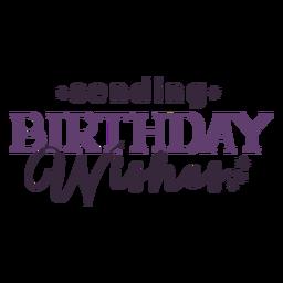 Envio de desejos de aniversário lettering