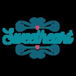 Sweetheart lettering