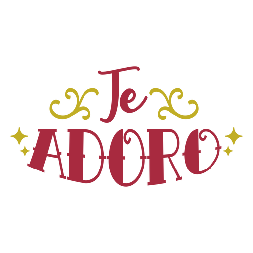Te adoro lettering Transparent PNG