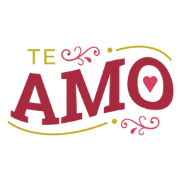 Te Amo-Schriftzug