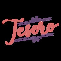 Tesoro flower lettering