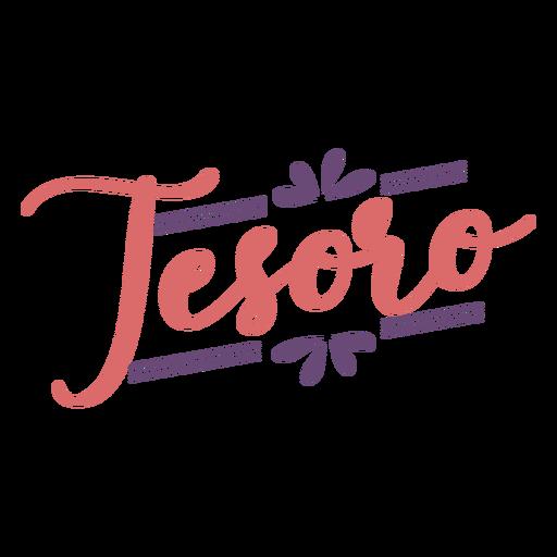 Letras de flor Tesoro Transparent PNG