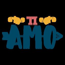 Ti-Amo-Pfeil-Schriftzug