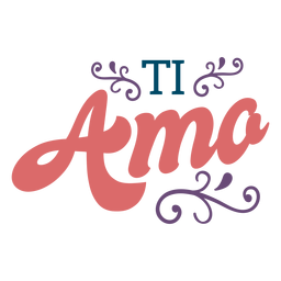 Ti amo lettering