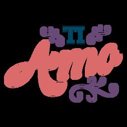 Ti Amo-Schriftzug